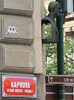 Space Invader, Prague. ©NRT