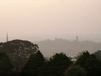 Lancaster, UK, in dense summer haze. ©NRT