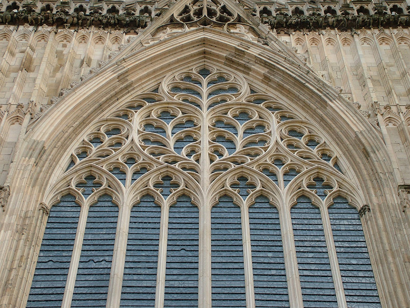 Detail of the great west window york minster uk 16 july for West window york minster