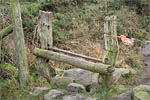 Stile, Waun-y-Llyn Country Park, Hope Mountain, Flintshire, UK. ©NRT