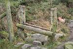 Stile, Waun-y-Llyn Country Park, Hope Mountain, Flintshire, UK. ©NRT