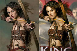 Keira Knightley - source photo and modified image.  Copyright holder unknown.